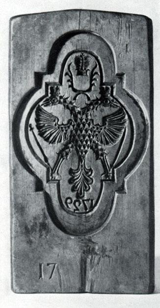 Пряничная доска. 1729 г.