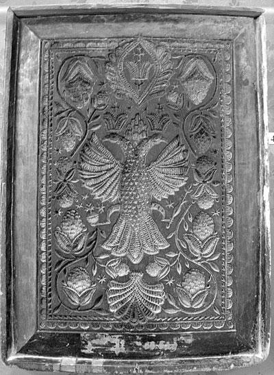 Пряничная доска с двуглавым орлом из коллекции музея «Ростовский кремль»