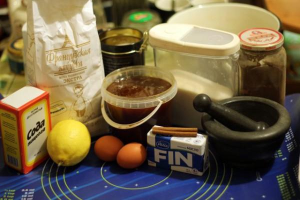 ингредиенты пряников