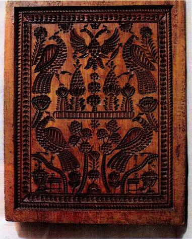 Свадебная пряничная доска. Поволжье. Начало XIX века