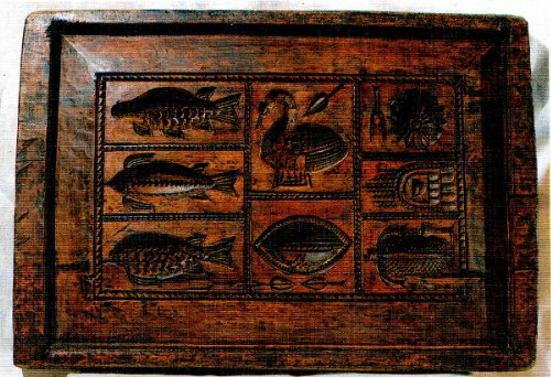 Тверская пряничная доска наборная. Первая половина XIX века
