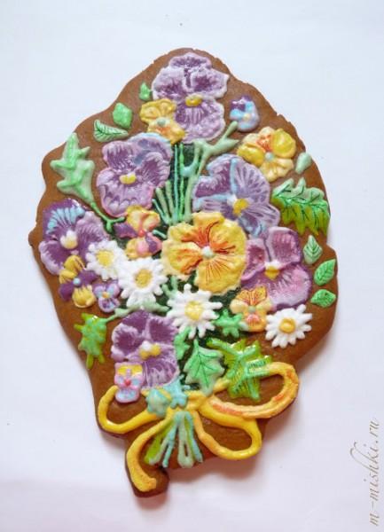 цветы пряник